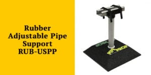 Rubber Adjustable Unistrut Pipe Support RUB US-PP by Pipe Prop